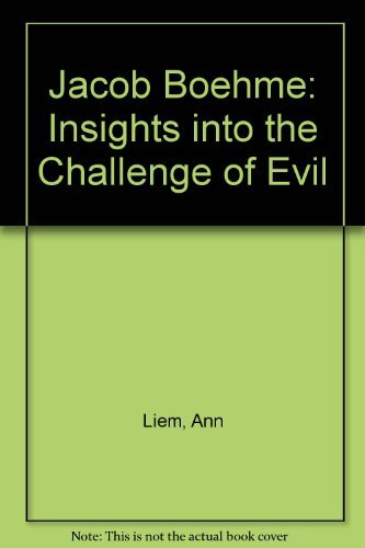 9780875742144: Jacob Boehme: Insights into the Challenge of Evil