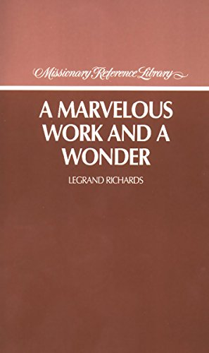 9780875793276: A Marvelous Work and a Wonder (Missionary Reference Library)