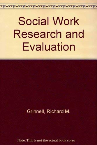 9780875813035: Social Work Research and Evaluation
