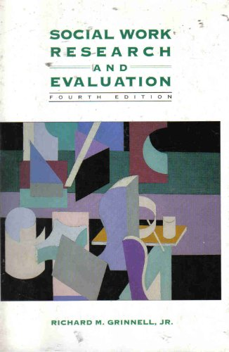 9780875813660: Social Work Research and Evaluation