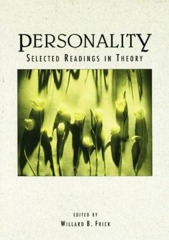 9780875813837: Personality: Selected Readings in Theory