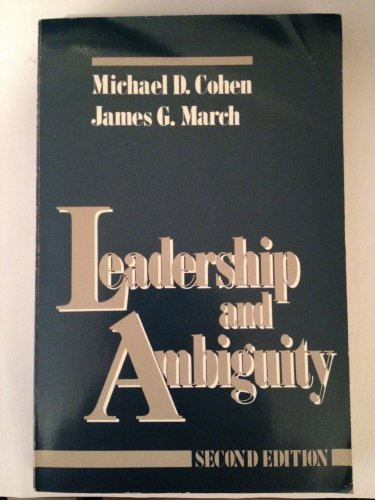 9780875841311: Leadership and Ambiguity: The American College President