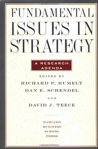 9780875843438: Fundamental Issues in Strategy: A Research Agenda