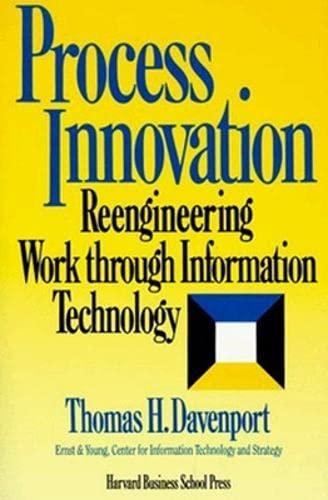 9780875843667: Process Innovation: Reengineering Work Through Information Technology