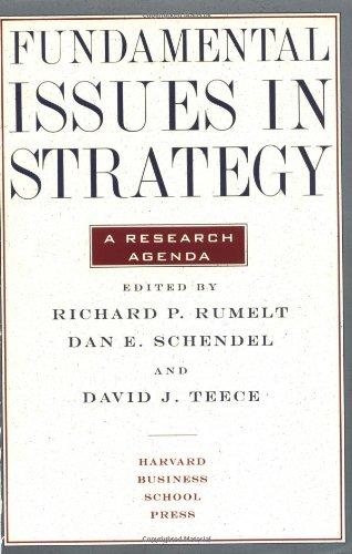9780875846453: Fundamental Issues in Strategy: A Research Agenda
