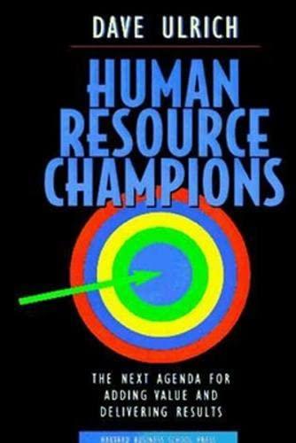 9780875847191: Human Resource Champions