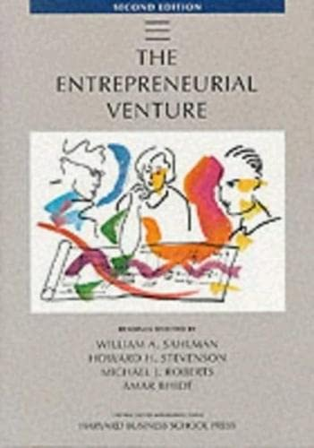 The Entrepreneurial Venture: Applying Business Principles to Environmental Management (Second ...
