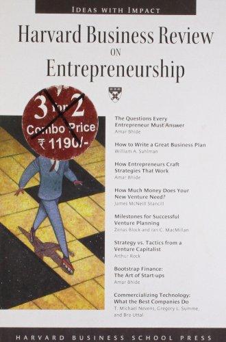 9780875849102: Harvard Business Review on Entrepreneurship (Harvard Business Review Paperback Series)