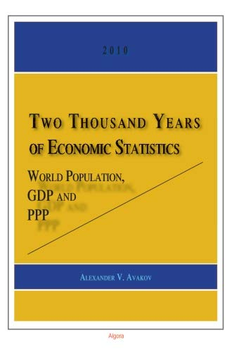 Two Thousand Years of Economic Statistics: World Population, GDP and PPP: Avakov, Alexander V.