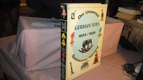 9780875882512: German Toys-1924/1926 O/P