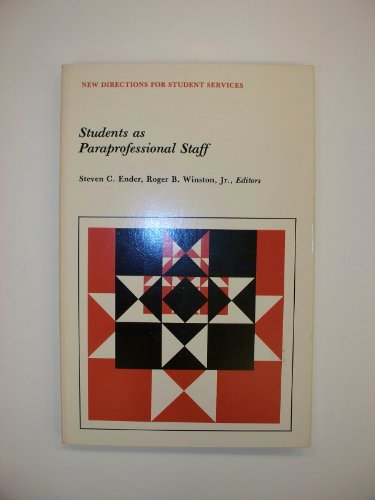9780875897882: Students As Paraprofessional Staff (New Directions for Student Services)