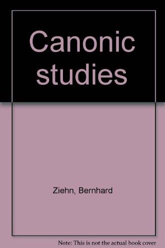 9780875971063: Canonic studies
