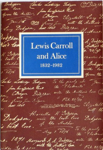 9780875980768: Lewis Carroll and Alice, 1832-1982 / Morton N. Cohen