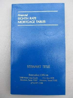 9780876002674: Financial Eighth Rate Mortgage Tables No 267