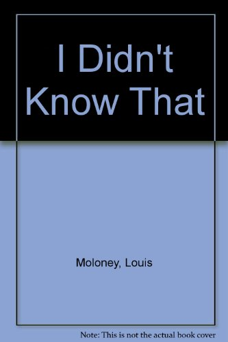 9780876022368: I Didn't Know That - A Lighthearted Review