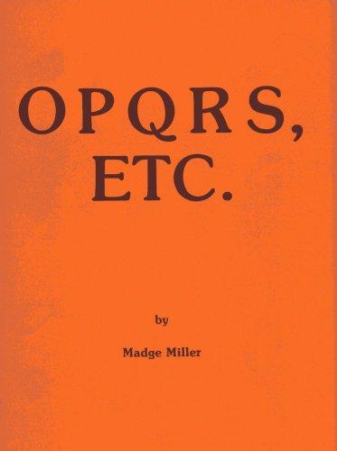 9780876022467: OPQRS, Etc.