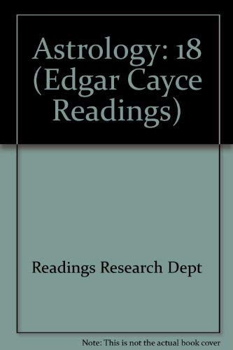 9780876041598: 18: Astrology (Edgar Cayce Readings)