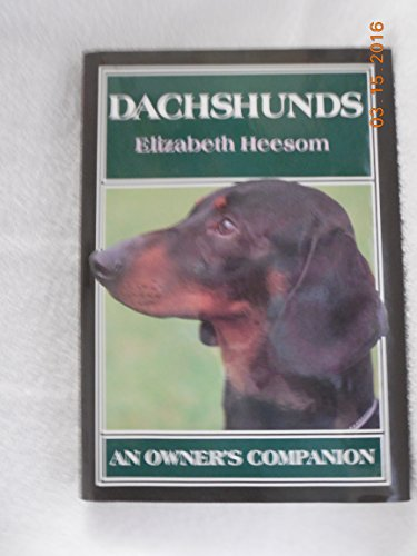 9780876051337: Dachshunds: An Owner's Companion