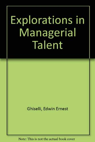 9780876202845: Explorations in Managerial Talent