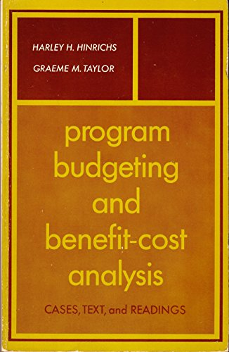 9780876207239: Programme Budgeting and Benefit Cost Analysis: Cases, Text and Readings