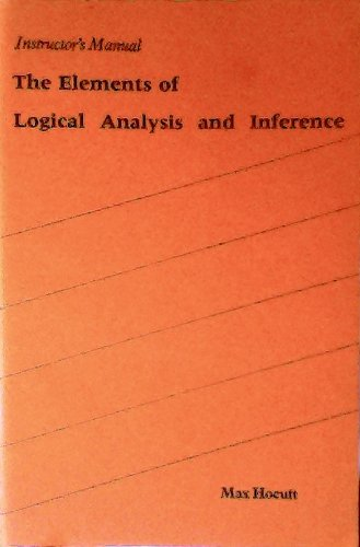 9780876262214: The Elements of Logical Analysis and Inference