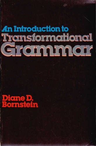 9780876264294: An introduction to transformational grammar