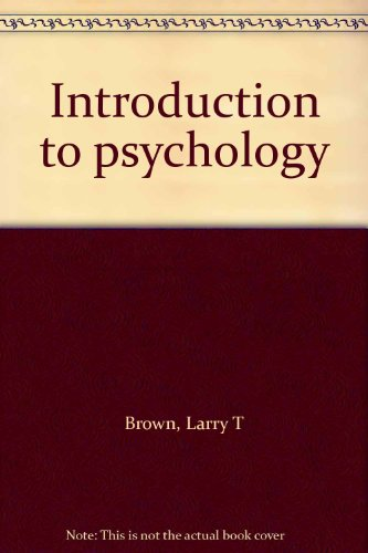 9780876264393: Title: Introduction to psychology