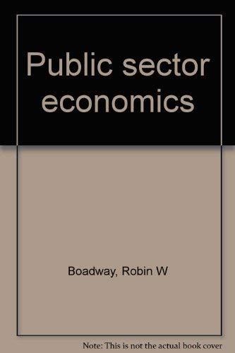9780876267011: Public sector economics