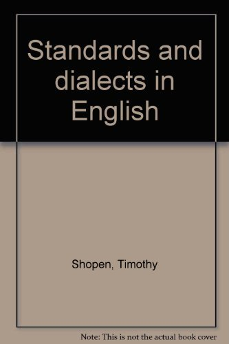 9780876268179: Standards and dialects in English