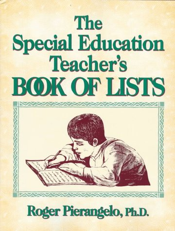 9780876285787: The Special Educator's Book of Lists (J-B Ed: Book of Lists)