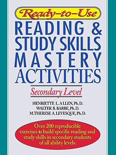 Ready-To-Use Reading & Study Skills Mastery Activities: Allen, Henriette L./