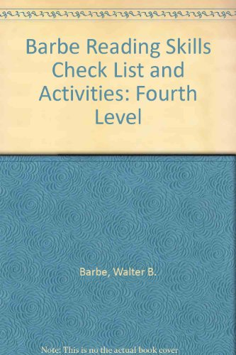 9780876287279: Barbe Reading Skills Check List and Activities: Fourth Level (Barbe reading skills check lists and activities)