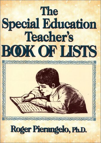 9780876288764: The Special Education Teacher's Book of Lists