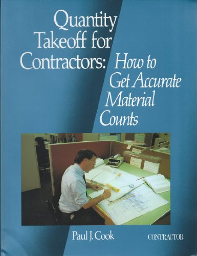 9780876292686: Quantity Takeoff for Contractors: How to Get Accurate Material Counts
