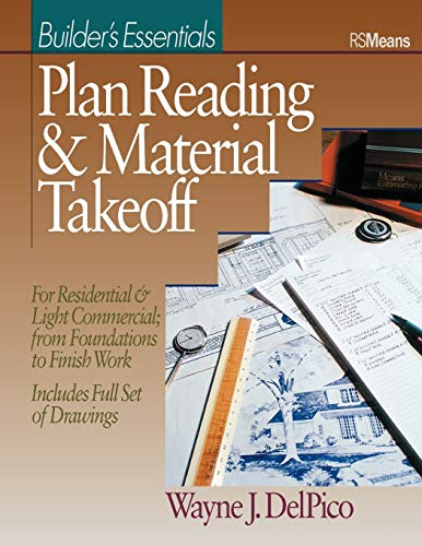 9780876293485: Plan Reading and Material Takeoff: Builder's Essentials (RSMeans)