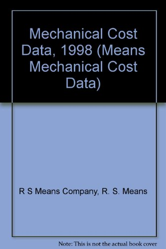 9780876294710: Mechanical Cost Data, 1998 (Means Mechanical Cost Data)