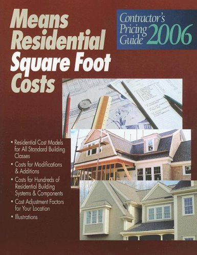 9780876298091: Contractors Pricing Guide: Residential Square Foot Costs (Means Contractor's Pricing Guides)