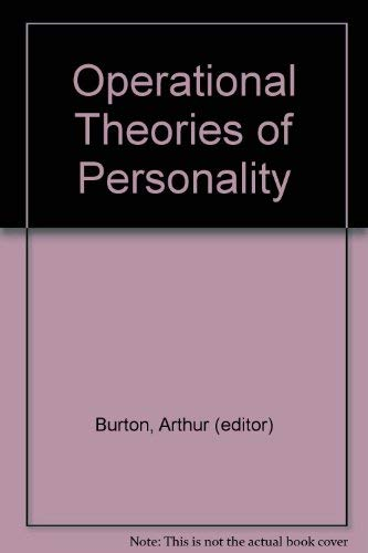 9780876300862: Operational theories of personality