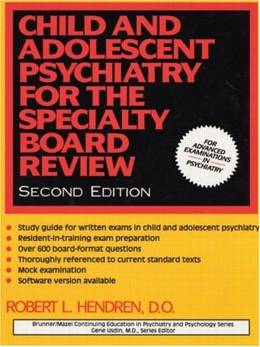9780876308400: Child and Adolescent Psychiatry for the Specialty Board Review (Brunner/Mazel Continuing Education in Psychiatry and Psychology Series)