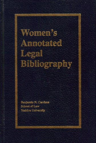 Women's Annotated Legal Bibliography, Volume 3