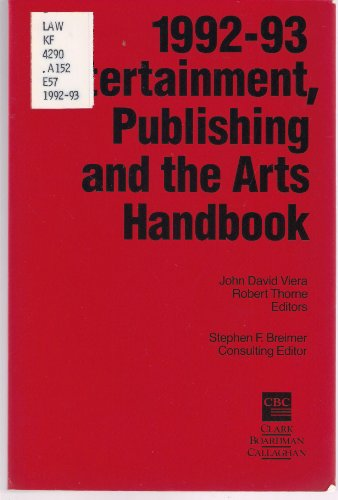 1992-1993 Entertainment, Publishing and the Arts Handbook