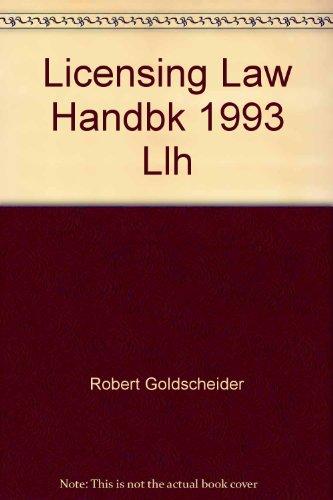 Licensing Law Handbk 1993 Llh