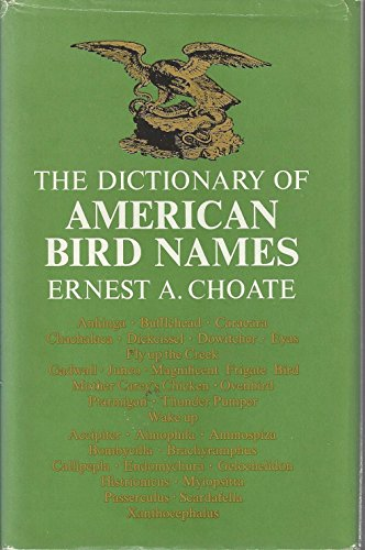 9780876450659: The Dictionary of American Bird Names