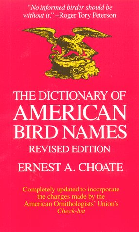 9780876451175: The Dictionary of American Bird Names