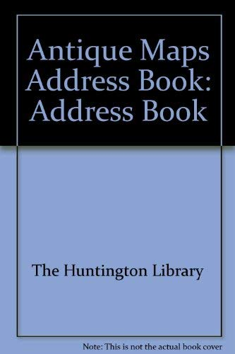 9780876544280: Masters of Cartography: Address Book