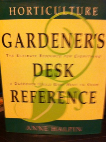 9780876603970: Horticulture Gardeners Desk Reference