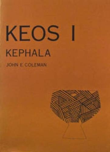 9780876617014: Kephala: A Late Neolithic Settlement and Cemetery (Keos)