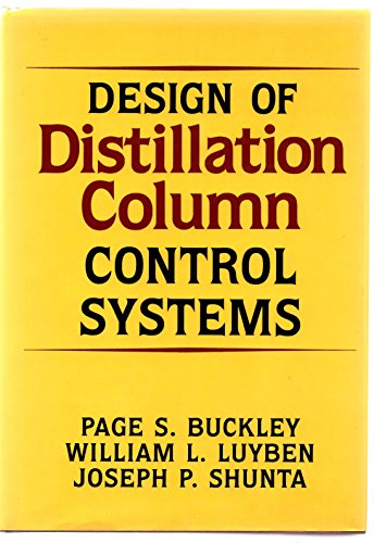 9780876648124: Design of Distillation Column Control Systems