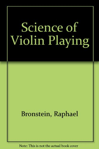 9780876666388: Science of Violin Playing