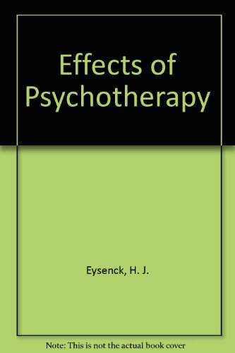 9780876680025: The Effects of Psychotherapy